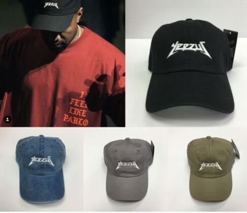 Yeezus Hat Glastonbury Unstructured Dad Cap 350 750 Yeezy Tour Kanye West 6  panel caps hats for men and women Free shipping fa72f2d15fb
