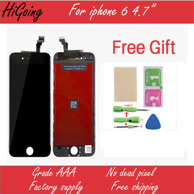 LCD Screen Display For iPhone 6 4.7inch Touch Digitizer Assembly Replacement for iPhone6 6G White and Black All Test