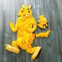 Glimlach Primark Geel Pikachu Volwassen Dier Rompertjes Footed Pyjama, volwassen plus size onesie, albornoz mujer dier kostuum S Ml XL