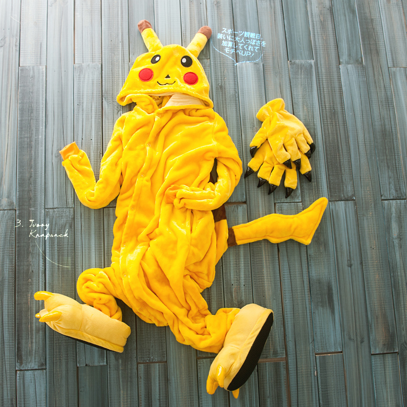fbacfdee45f3 Smile Primark Yellow Pikachu Adult Animal Onesies Footed Pajamas ...
