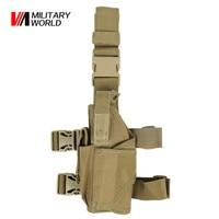 Airsoft Tactical Universal Pistol Drop Leg Holster For Left Hand Military Shooting Hunting Gun Bags Shotgun