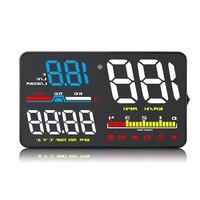 HUD D5000 OBD2 Head Up Display Digital Speedometer Windshield Projector Fatigue Alarm Fuel Speed Gauge A8 A1000