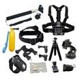 Gopro acessórios Kit Tripé Remoto de Pulso Peito Strap Mount Monopé para ir pro sessão 5 xiaomi yi 4 k sjcam sj4000 câmera de ação