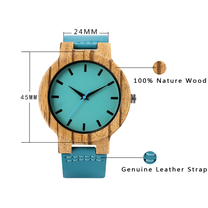 Luxury royal blue wood watch 4