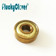 1pc Gold ABEC-11 Skateboard 608zz Bearing Silver Abec-7 Spinner Ball Bearing Freestyle Scooter Inline Wheels Sole Skate Bearings(China)