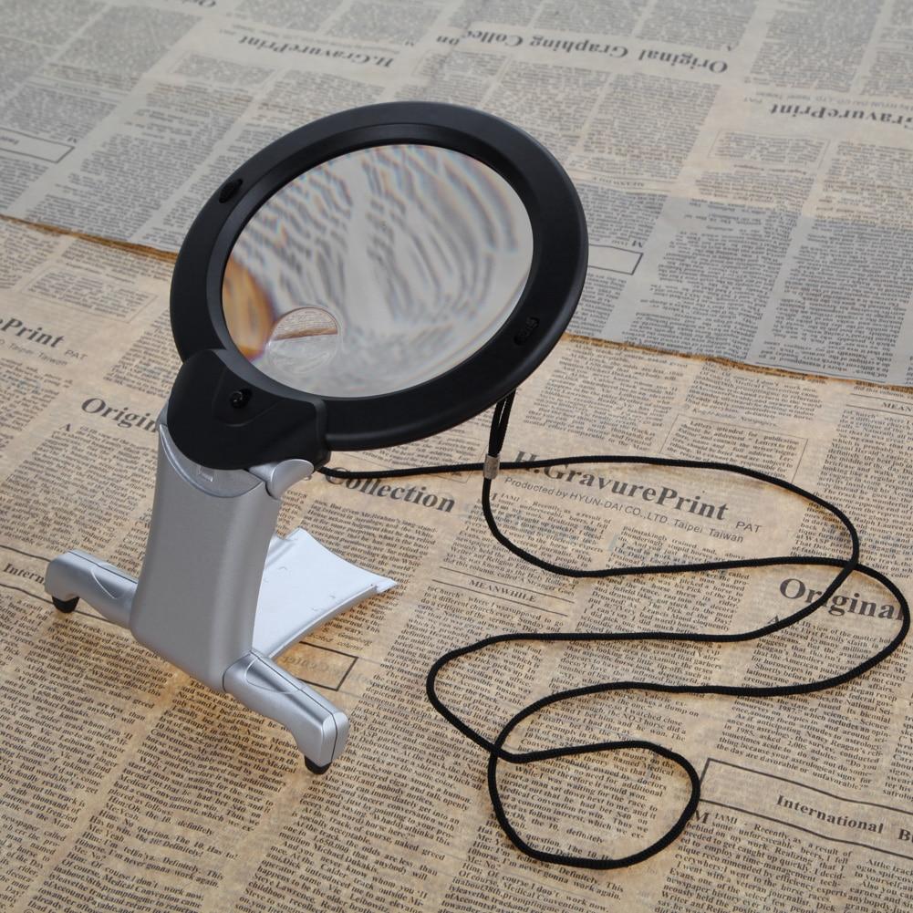 2.5X100mm LED padidinamojo stiklo padidinamojo stiklo mini kišeninis - Matavimo prietaisai - Nuotrauka 2