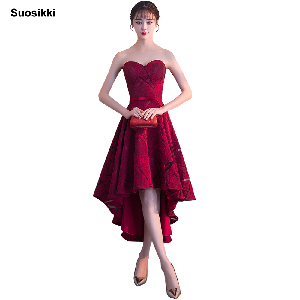 2018 New Arrival Sexy Sweetheart Sleeveless Short Front Long Back Evening Dresses Bride Banquet Formal Party Gowns Vestidos