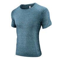 2017 Projekt Fitness Kompresja Koszulka Solid color bawełna wygodne t-shirt Men casual Krótki rękaw Sexy ultra Ssać podkoszulek