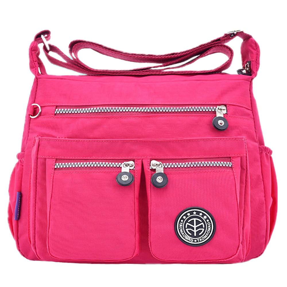 Fashion Women Messenger Bags Waterproof Nylon  Quality bags Light Travel Leisure Shoulder Bag Vintage Solid Coloy Shoulder bag