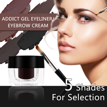NICEFACE 5 Color Professional Eyebrow Enhancer Waterproof Dyed Cream Black Coffee Brown Eye brow With Brow Makeup Brushes Tools