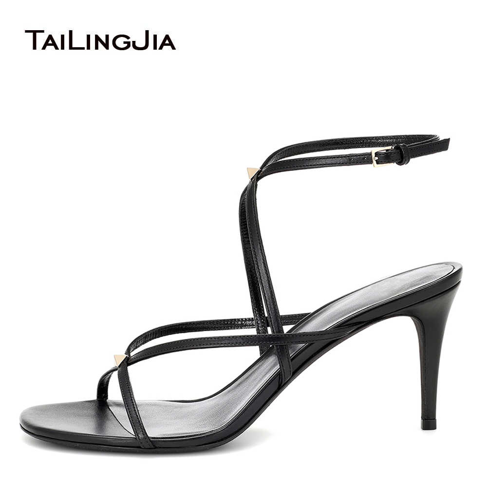 Latest Strappy Mid High Heel Sandals
