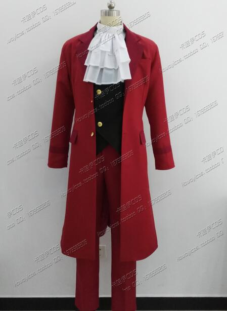 2016 Ace Attorney Apollo Justice Miles Edgeworth Cosplay Costume In Red Cosplay Uniform New Custom Made