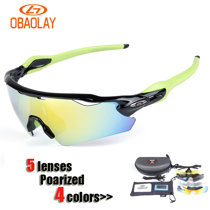 New OBAOLAY Brand Radar Cycling Eyewear Polarized Cycling Glasses Goggles MTB Outdoor Sport Bicycle Sunglass Men