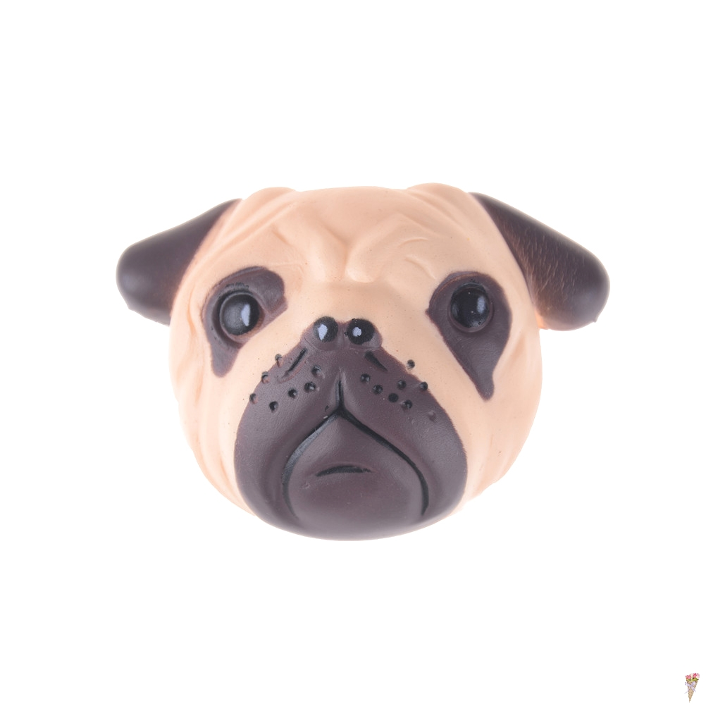 Mobile Phone Accessories Antistress Ball Pug Dog Face Mini Squeeze Squishy Toys Slow Rising Squeeze Stretchy Animal Healing Stress Kids Adults Toys Beautiful In Colour