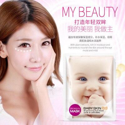 BIOAQUA Máscara de olho hidratante para bebês Máscara para dormir sem idade Tapa-olhos Anti-Puffines Anti-envelhecimento Anti-olheiras Clareamento Cuidados com o rosto биоаква патчи для глаз
