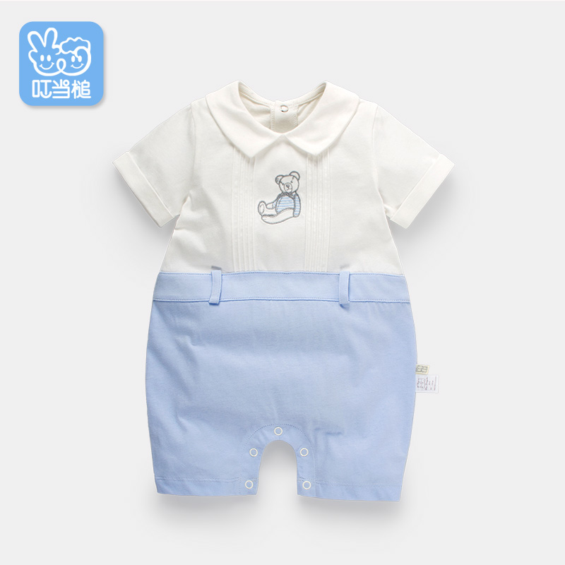 Dinstry Baby clothes body clothing summer newborn short-sleeved newborn cartoon bear infant romper dinstry newborn baby girl cotton romper jumpsuit long sleeved spring and autumn pink infant clothing clothes