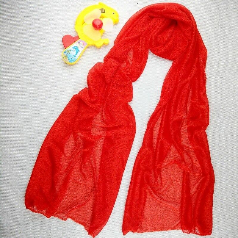 170*50cm Red Scarves Women Silk Chiffon Scarf Wrap Shawl Winter autum summer Red Scarves