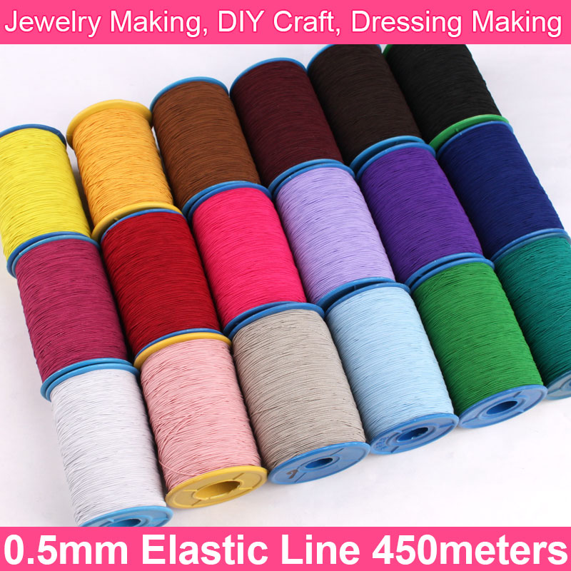 0.5mm Elastic Line Elastic Cord Rubber Line Thin Elastic Band Beading Thread Stretch String Craft Cord For Jewelry Making