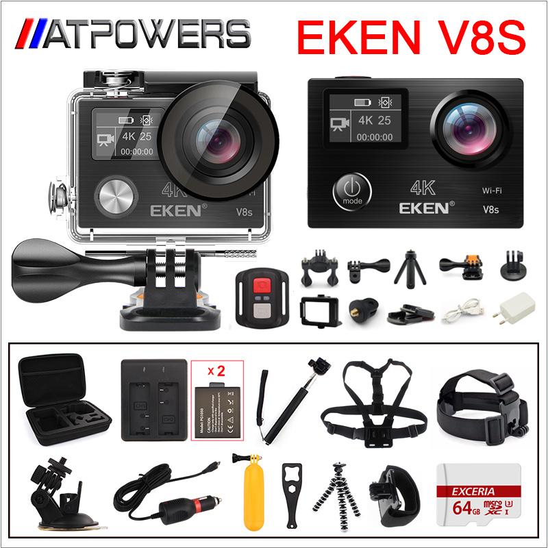 Prix pour Action Caméra Ultra HD 4 K Ambarella A12 WiFi Électronique Stabilisation D'image Aller Étanche Pro Sport DV D'origine EKEN V8S caméra