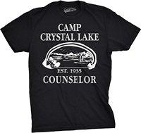 Mens Camp Crystal Lake T-shirt Funny Campinger Vintage Horror Novelty Tees Short Sleeve Cheap Sale Cotton T- Shirt Light