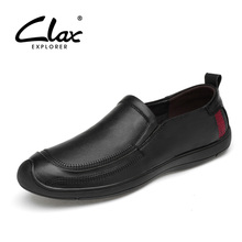 CLAX Mens Boat Shoes Spring Summer Casual Leather Shoe Male Walking Footwear Slip on Loafers Genuine Leather Moccasins Flat Soft все цены