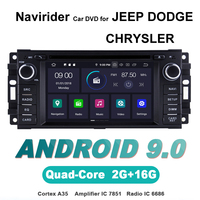 ELANMEY advanced gps navigation For CHRYSLER JEEP DODGE 300C CHEROKEE car accessories android 9.0 CAR DVD radio stereo bluetooth