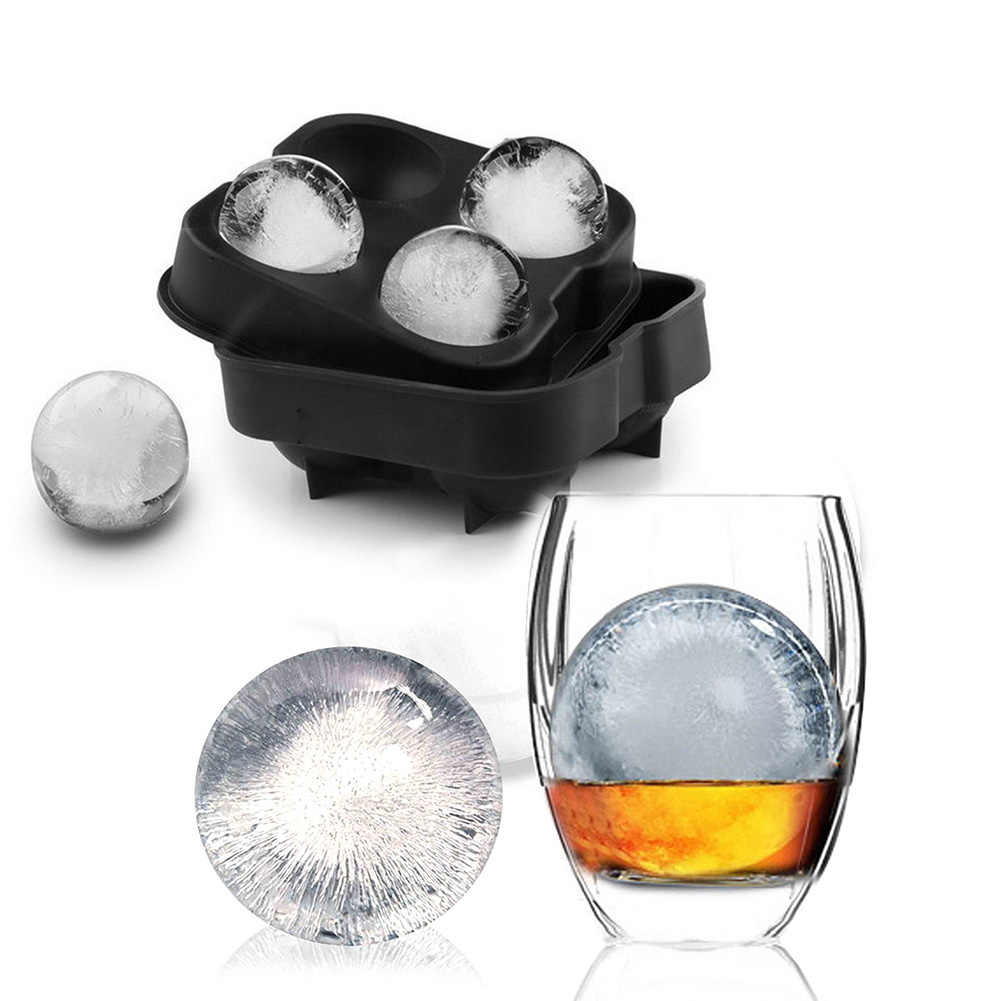Whiskey Ice Cube Maker Ball Mold Mould Brick Round Bar Accessiories High Quality Black Color Ice Mold Kitchen Tools