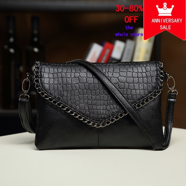 day clutches women bags female shoulder bags leather handbag black purses  crossbody bags for women Envelope f056141da50f5