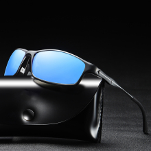 Sports Shield Al-magnesium Alloy Sun Glasses Polarized Mirror Sunglass