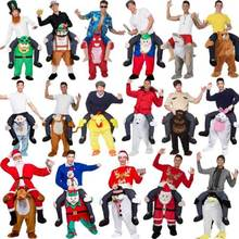 Funny Ride on Me Mascot Cosplay Costumes Carry Back Funny Pants Dress Up Halloween Party Free Shipping