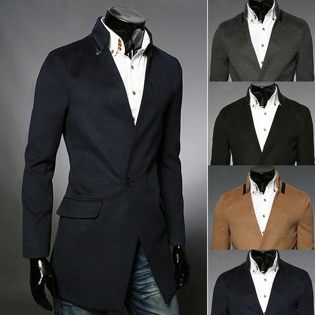 Envío gratis 2015 recién llegado de primavera / otoño de la moda para hombre de corea delgado traje / abrigo abrigo de lana