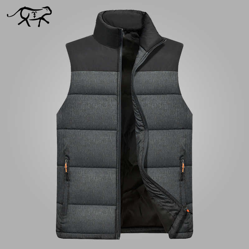 48214229 Новая мужская зимняя куртка без рукавов мужская пуховая жилетка мужская  теплая Толстая куртка с капюшоном мужская