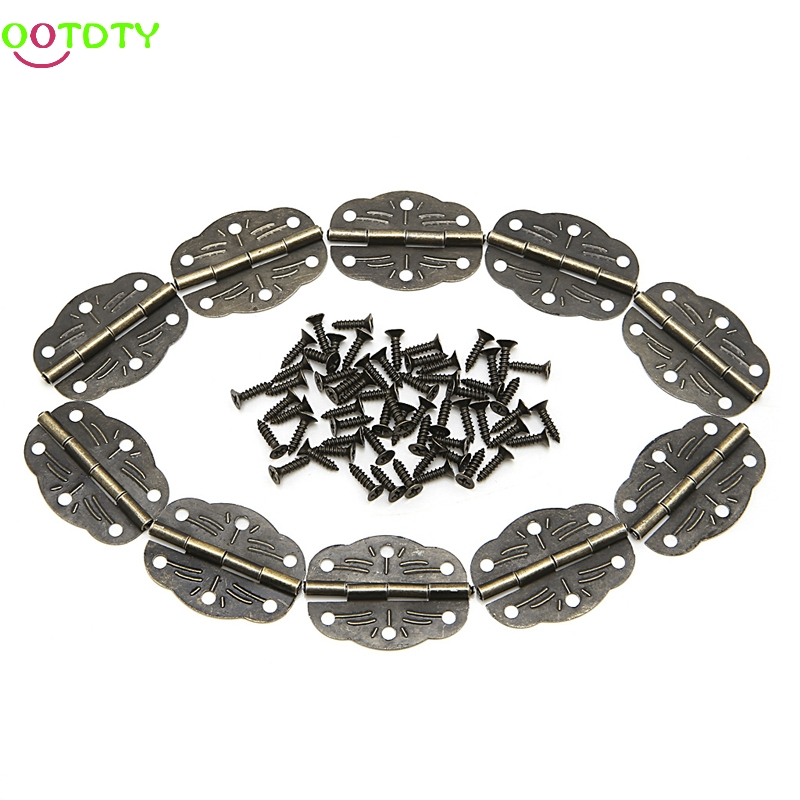 10x Door Butt Hinges Alloy Rotated From Antique Bronze 30mm x22mm 828 Promotion ...