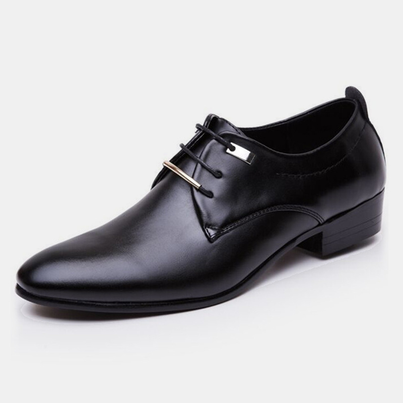 AF01 PU Office Dress Shoes Man Baita Latin Wedding Shoes Prom Sport  Leather Shoes Pointed Men Ballroom Dance Shoes Big Size