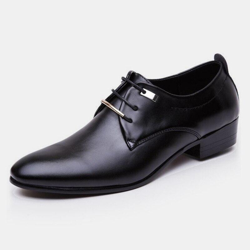 AF01 PU Zapatos de vestir de oficina hombre Baita zapatos de boda Latino baile de graduación zapatos deportivos de cuero puntiagudos hombres zapatos de baile de salón tamaño grande Marca Brogue amarillo Negro hombres zapatos de vestir de negocios puntiagudos zapatos de boda de los hombres zapatos formales de cuero genuino hombre Casual pisos