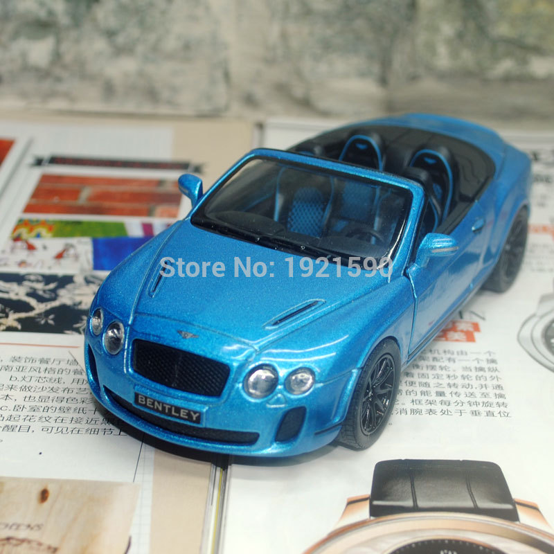 KT 1/38 Scale Pull Back Car Toys UK 2010 Bentley Continental Supersports Convertible Diecast Metal Car Model Toy For Gift/Kids