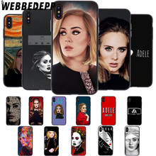 WEBBEDEPP chanteur Adele Adkins étui pour iphone 5 5S 6 6S 7 8 Plus X XS 11 Pro MAX XR housse(China)