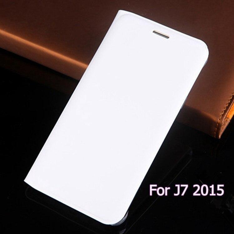 Slim Flip Cover peněženka Kožené pouzdro s pouzdrem na telefon Pouzdro na pouzdro s pouzdrem pro Samsung Galaxy J7 2015 J700 J700F J700H J700M