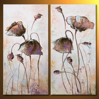 Hand Painted Oil Paintintg Delicacy Of Poppies-Modern Oil Painting On Canvas Art Wall Decor-Floral Oil Painting Wall Art