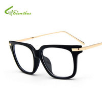 Fashion New Brand Eyeglasses Frame Men Women Vintage Big Frame Flat Glasses And Myopia Eyeglasses Optical