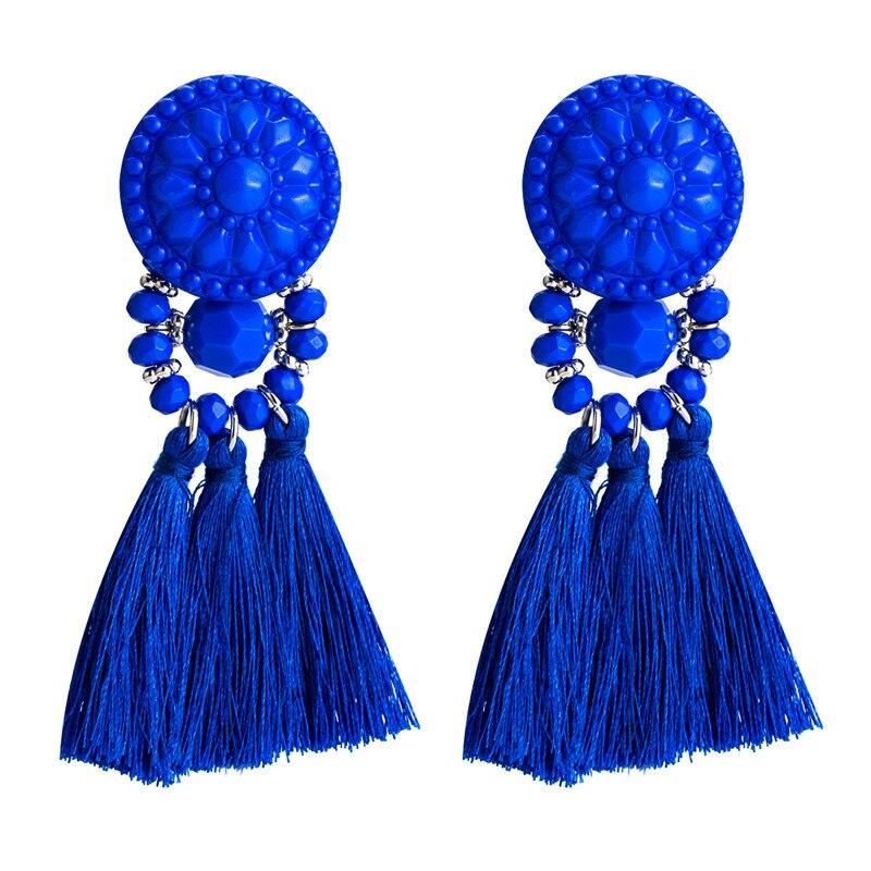 Boucles d'oreilles à pompon en résine tissée pour femmes boucles d'oreilles en acrylique boucles d'oreilles pour les femmes meilleurs cadeaux pour femmes ET858