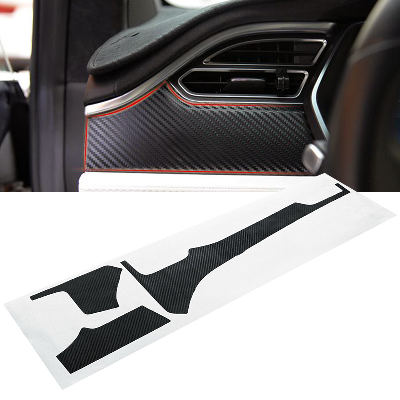 For Tesla Model X S Car Interior Sticker Carbon Fiber Parts Accessories