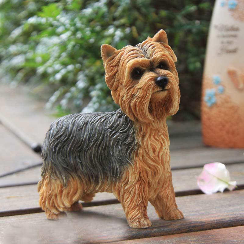Mnotht 1/6 Yorkshire Terrier Dog Simulation Dog Model Model Anmial - Խաղային արձանիկներ - Լուսանկար 4
