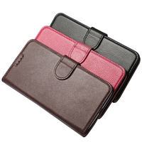 Lg g5ケースライチテクスチャ牛革レザーフリップケーススタンドカードスロット財布カバー
