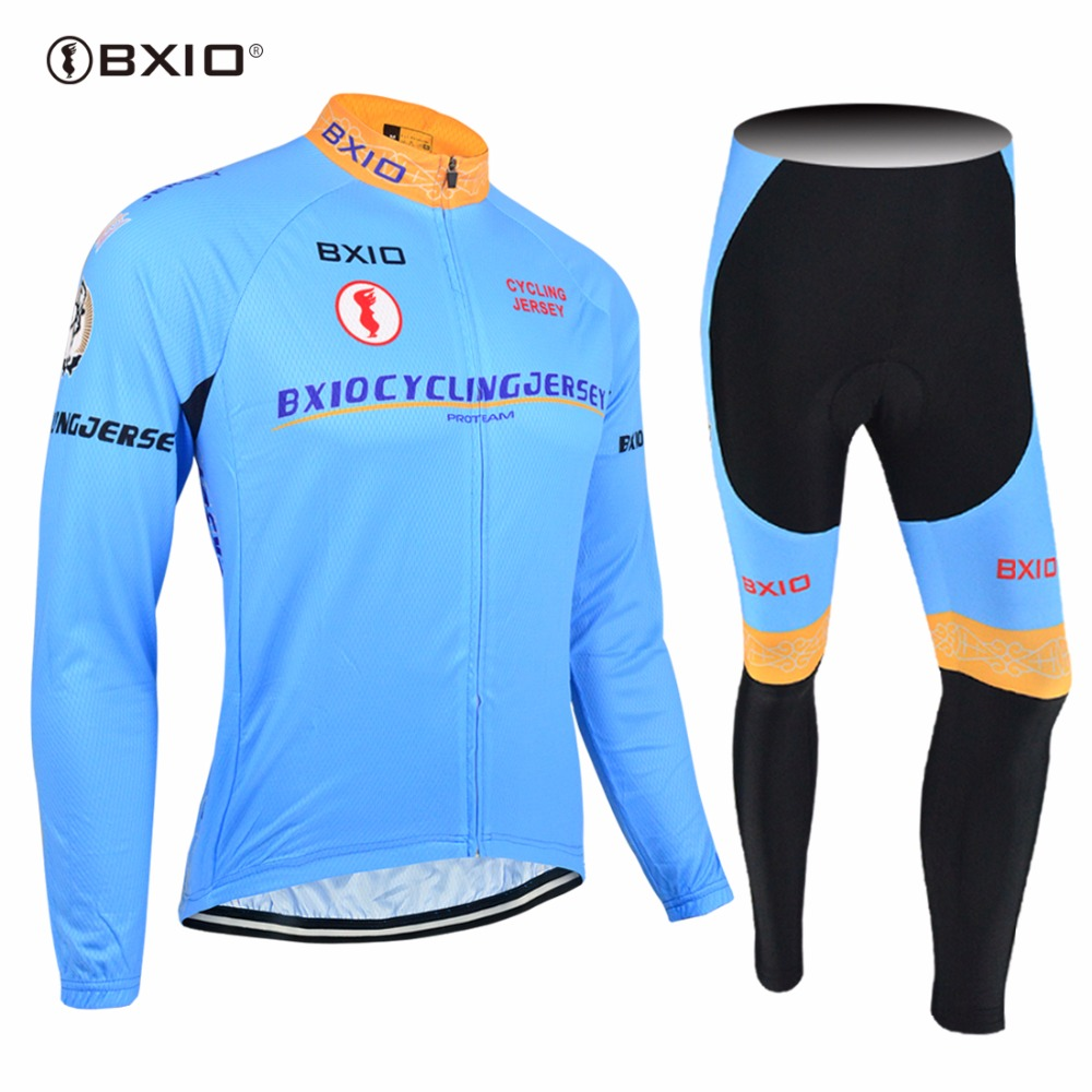 2017 New Arrival BXIO Pro Team Bicycle Clothes    Cycling Jersey  Long Sets Bike Clothing Ropa Ciclismo Hombre Verano 016 2017 new pro team cycling jersey set bike clothing ropa ciclismo breathable short sleeve 100%polyester cycling clothing for mtb