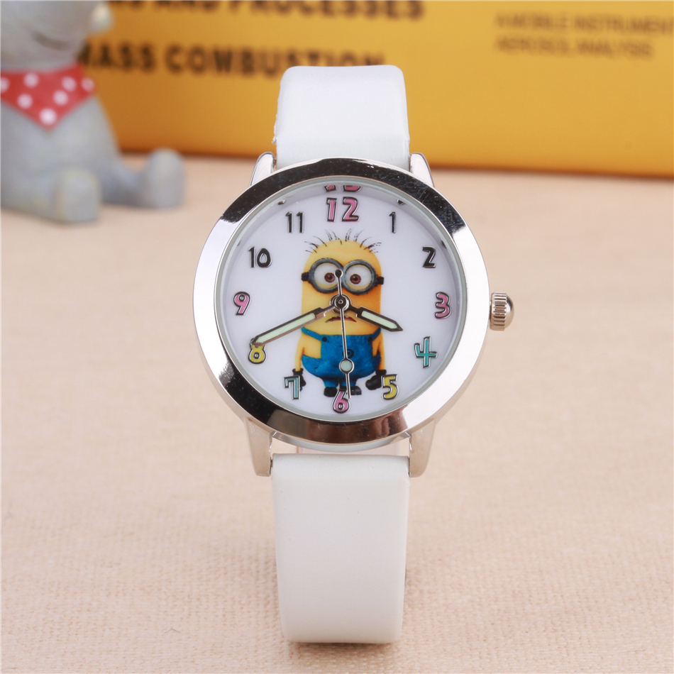 Leather Strap Cartoon Children Watch Fashion Cute Girls Boy Kids Watches Quartz Wristwatches Birthday Gift Clock Enfants Montre joyrox minions pattern children watch 2017 hot despicable me cartoon leather strap quartz wristwatch boys girls kids clock