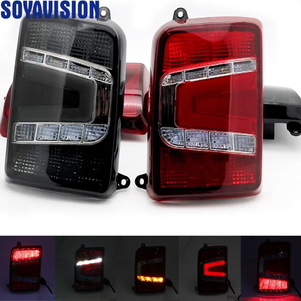 For Lada Niva 4X4 1995 LED tail lights with running turn signal light Reversing Waterproof led