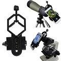 Soporte para teléfono móvil universal de 360 grados ratotable adaptador telescopio del teléfono móvil para iphone 6 7 plus telescopio microscopio lun