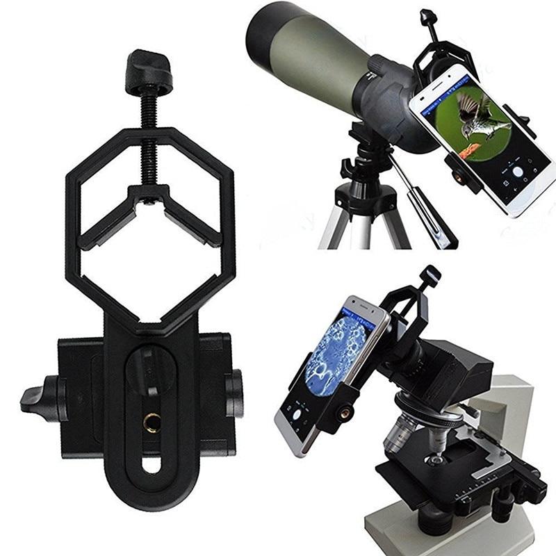 imágenes para Universal Microscopio Telescopio Adaptador de Soporte Para El Iphone 7 6 S SE Samsung Galaxy S8 S7 Aleación Borde xiaomi Smartphone Teléfono titular