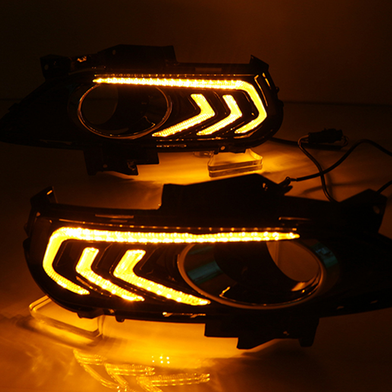 Car Flashing For Ford Mondeo Fusion 2013 2014 2015 2016 Led DRL Daytime Running Light car